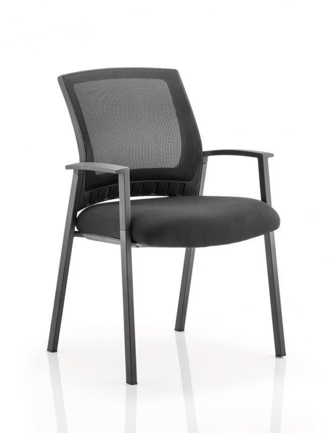 Dynamic Furniture Metro Visitor Black Mesh Back Chair