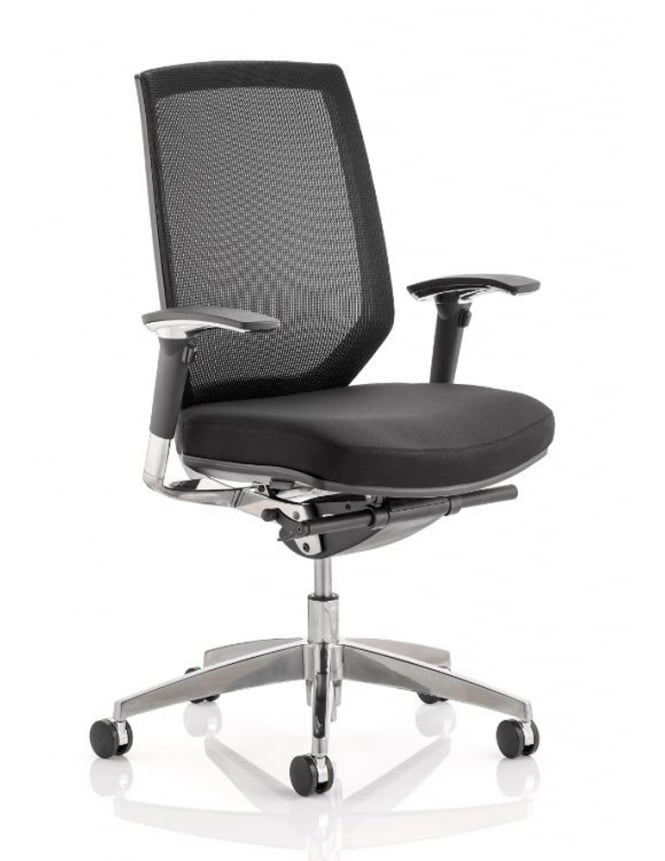 Dynamic Furniture Midas Task Operator Black Fabric Mesh Chair