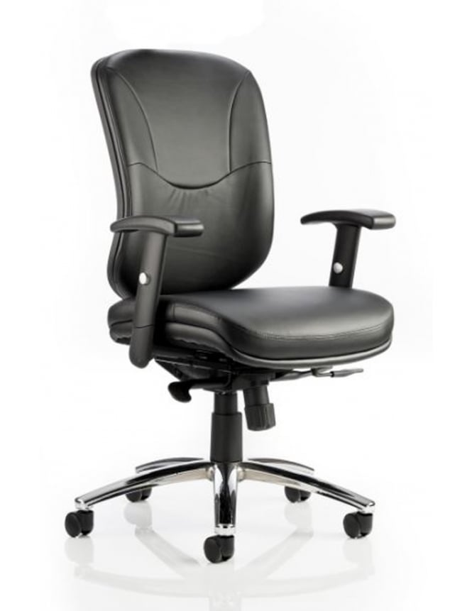 Dynamic Furniture Mirage II Executive Black Leather Chair