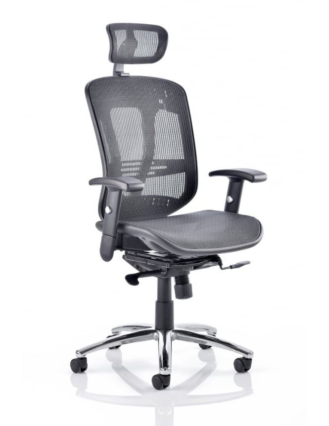Dynamic Furniture Mirage II Executive Black Mesh Chair