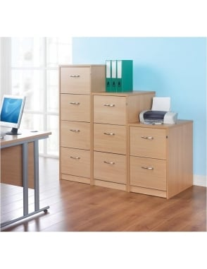 Momento 4 Drawer Deluxe Executive Filing Cabinet