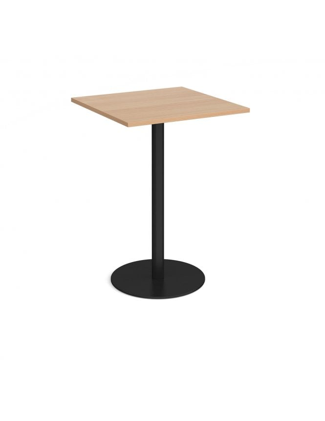 Dams Monza Square Poseur Table with Flat Round Base