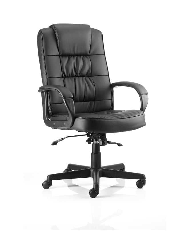 Dynamic Furniture Moore Executive Black Leather Chair