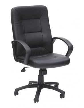 Obsidian Black Executive Leather High Back Chair