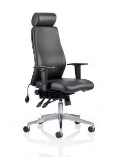 Onyx Ergo Posture Black Bonded Leather Chair