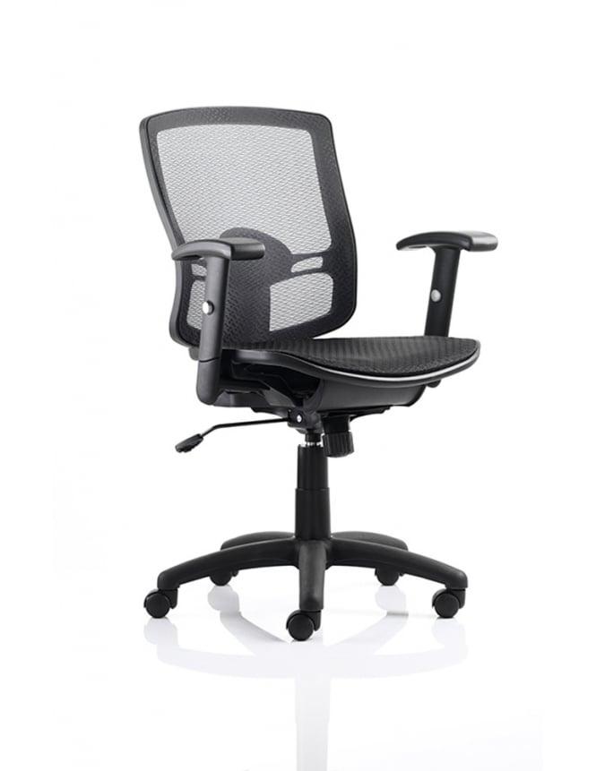 Dynamic Furniture Palma Task Operator Chair Black Mesh