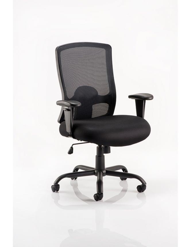 Dynamic Furniture Portland HD Task Operator Black Mesh Chair