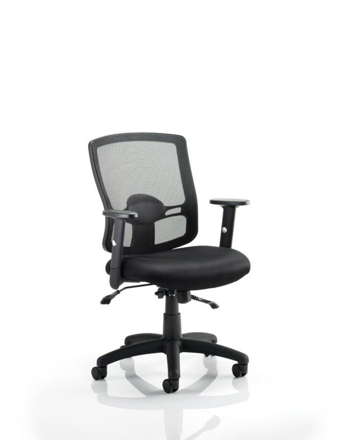 Dynamic Furniture Portland II Task Operator Black Mesh Chair