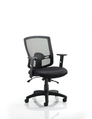 Portland II Task Operator Black Mesh Chair