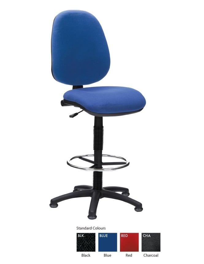 Woodstock Leabank Prism High Back Draughting Chair
