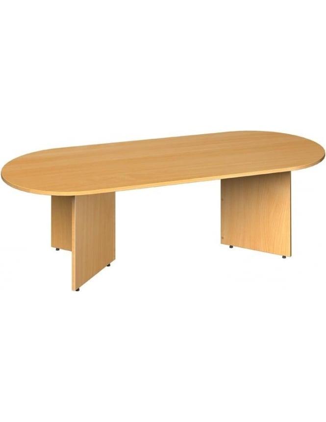 Dams Radial End Boardroom Table Arrow Head Leg Design