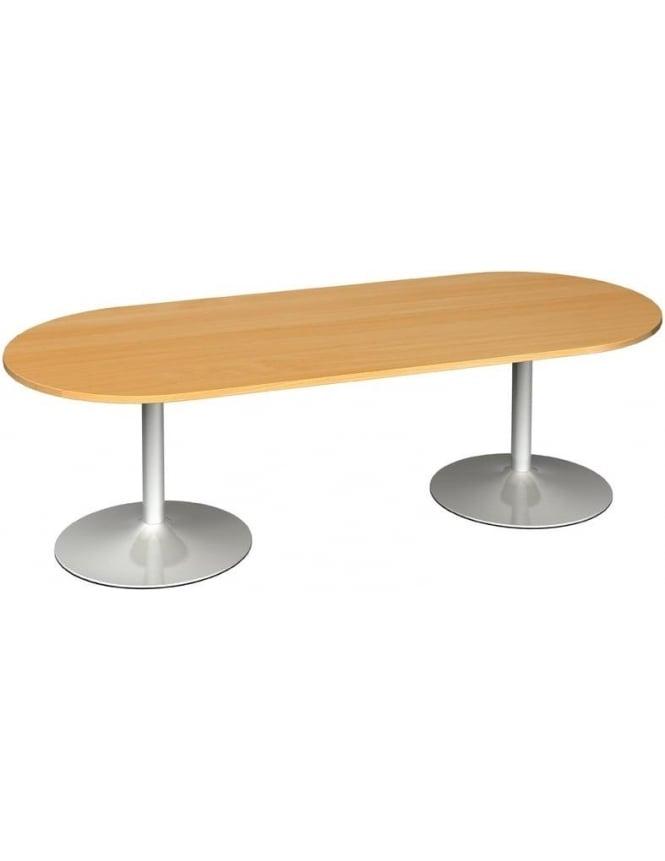 Dams Radial End Boardroom Table Trumpet Base