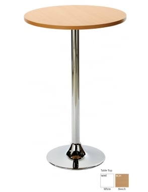 Ramiro Poseur Round Dining Table with Chrome Column