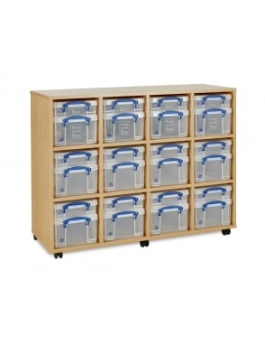 Really Useful Box Storage Unit 12 x 4L/12 x 9L
