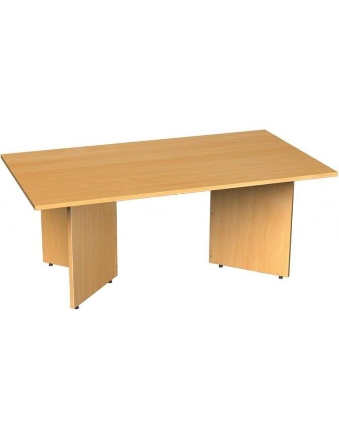 Dams Rectangular Boardroom Table Arrow Head Leg Design