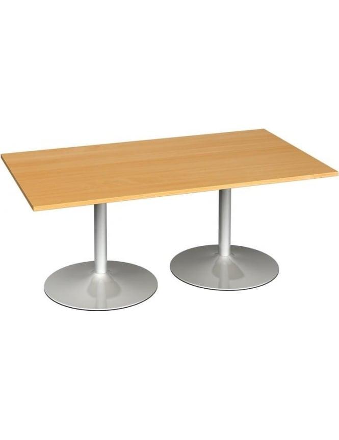 Dams Rectangular Boardroom Table Trumpet Base