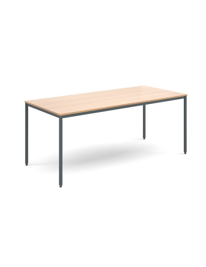 Dams Rectangular Flexi Table with Graphite Frame