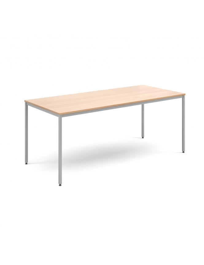 Dams Rectangular Flexi Table with Silver Frame