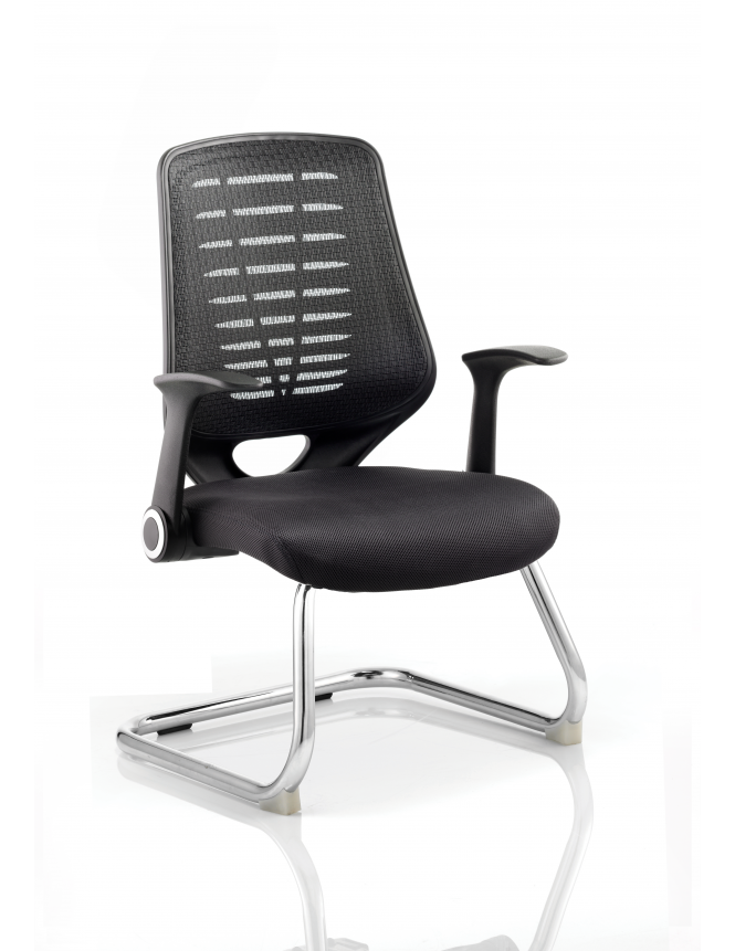 Dynamic Furniture Relay Cantilever Airmesh Seat Chair
