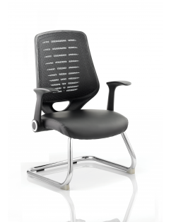 Relay Cantilever Leather Seat Chair