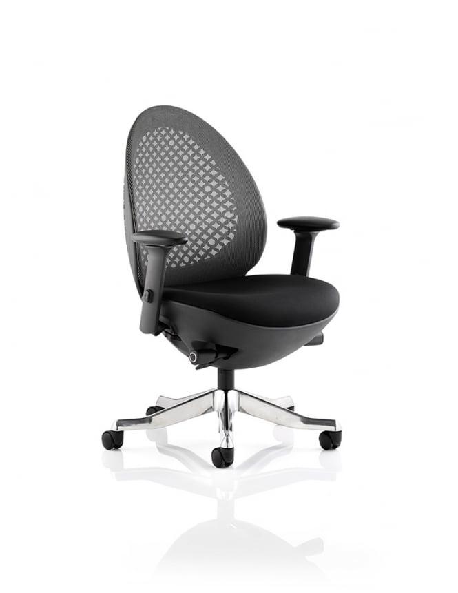 Dynamic Furniture Revo Task Operator Black Shell Mesh Chair