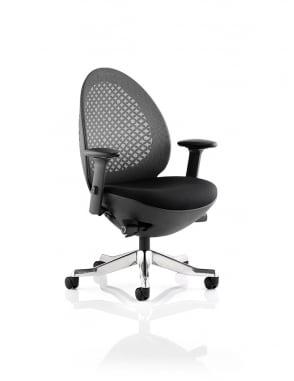 Revo Task Operator Black Shell Mesh Chair