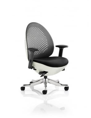 Revo Task Operator White Shell Mesh Chair