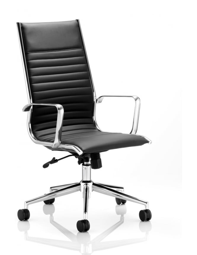 Dynamic Furniture Ritz Executive Black Bonded Leather High Back Chair