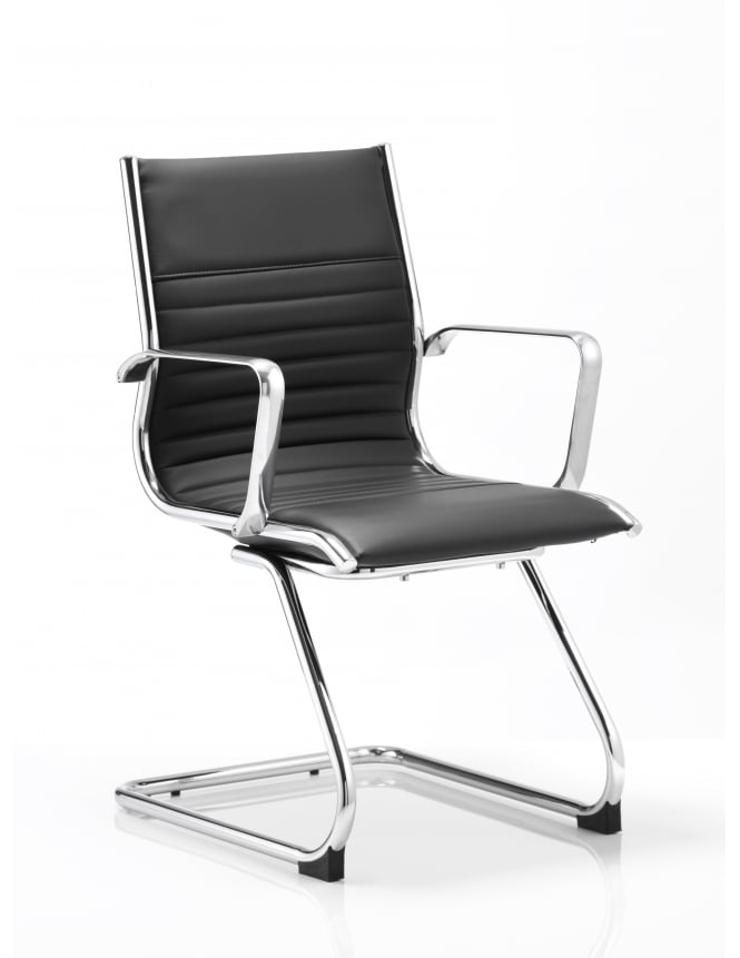 Dynamic Furniture Ritz Visitor Cantilever Bonded Leather Chair