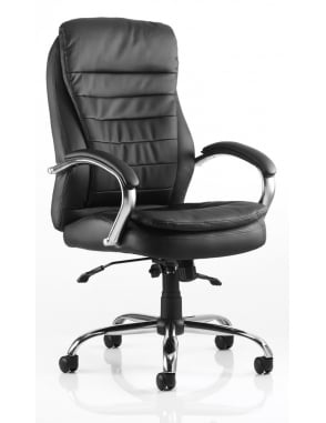 Rocky Executive Black Leather Chair