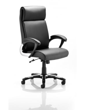 Romeo Executive Black Leather Folding Chair