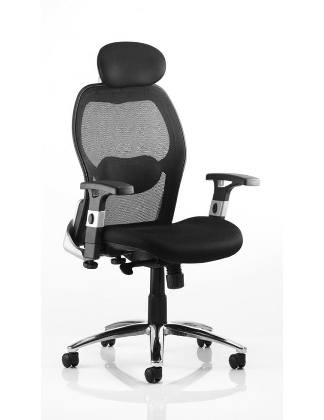 Dynamic Furniture Sanderson Executive Black Airmesh Chair