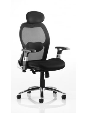 Sanderson Executive Black Airmesh Chair