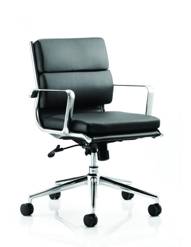 Dynamic Furniture Savoy Executive Bonded Leather Medium Back Chair