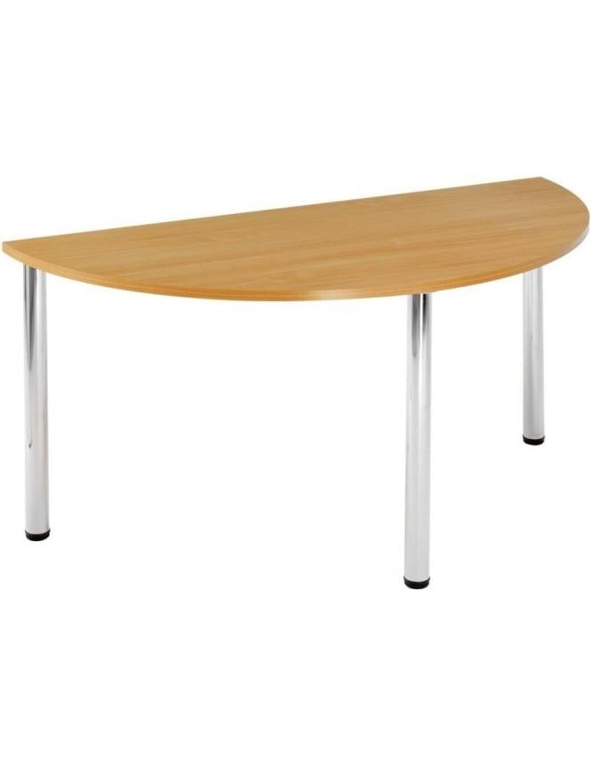 Dams Semi Circular Chrome Leg Flexi-Table