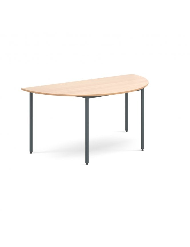 Dams Semi Circular Flexi Table with Graphite Frame 1600mm x 800mm