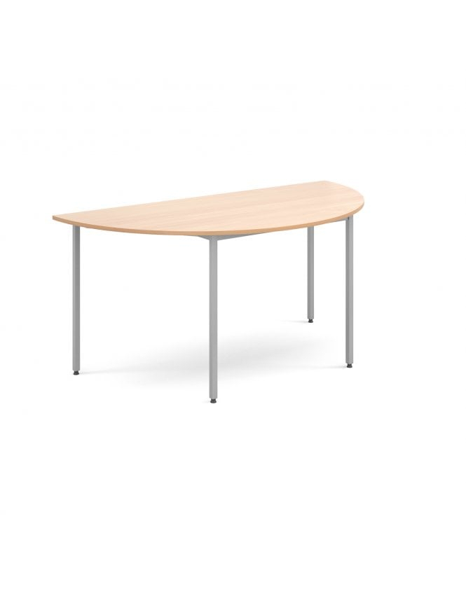 Dams Semi Circular Flexi Table with Silver Frame 1600mm x 800mm