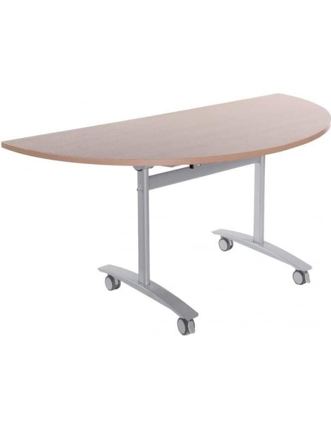 Dams Semi Circular Fliptop Table