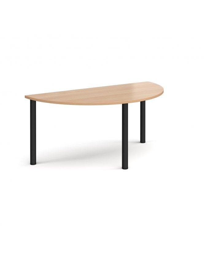 Dams Semi Circular Radial Leg Meeting Table 1600mm x 800mm