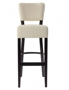 Sena Wenge Bar Chair with Faux Leather Seat And Back