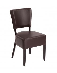 Sena Wenge Dining Chair with Faux Leather Seat And Back