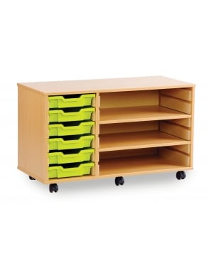 Shallow Tray Unit with 2 Adjustable Shelves