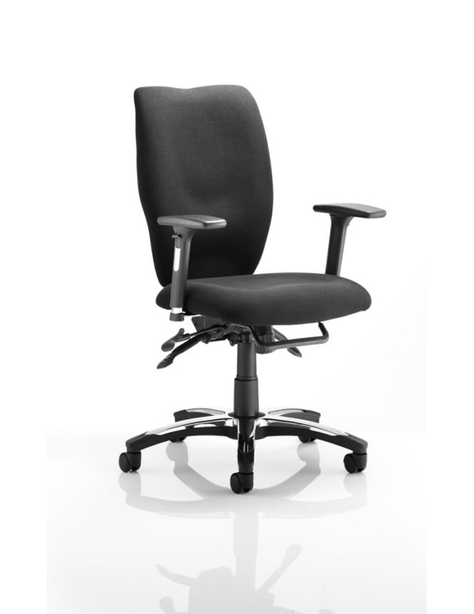 Dynamic Furniture Sierra Executive Chair Black Fabric
