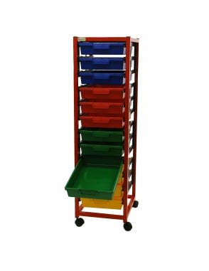 Single Column 12 Level Classroom Trolley