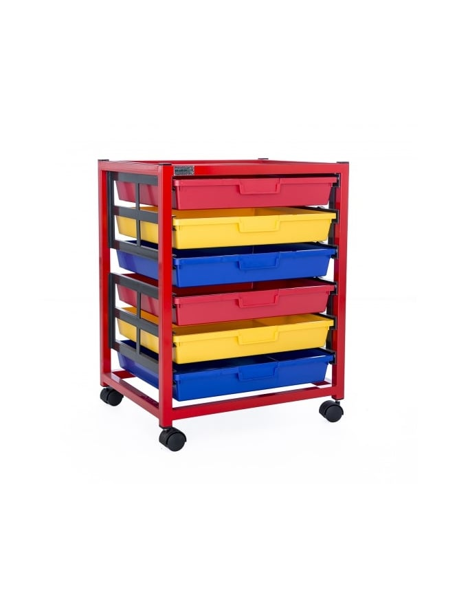 WPF Single Column 6 Level Classroom Trolley