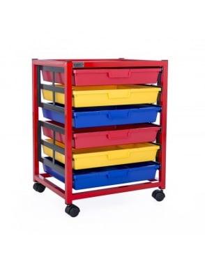 Single Column 6 Level Classroom Trolley