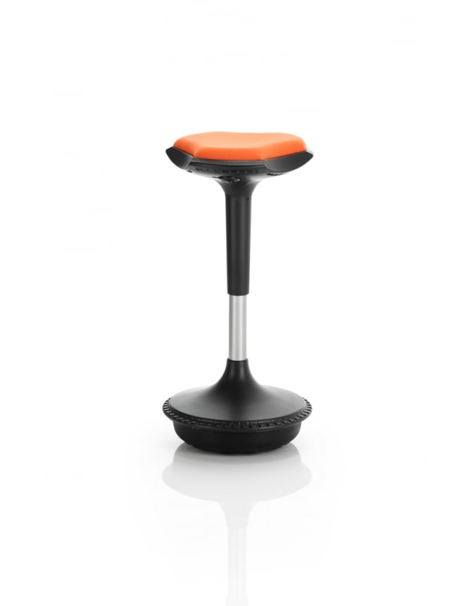 Dynamic Furniture Sitall Visitor Fabric Seat Stool