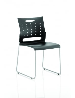 Slide Visitor Black Polypropylene Chair