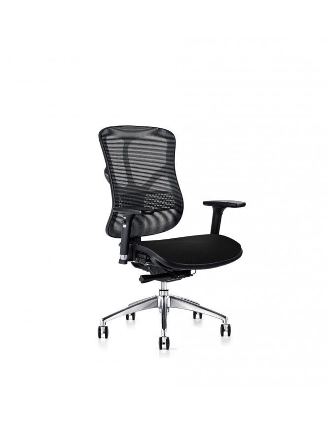 Hood Seating Soft Touch Black Mesh 101 Series F94 - Fabric Seat Chair