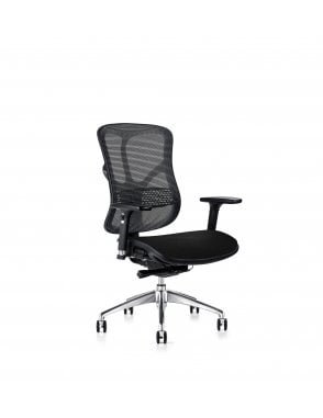 Soft Touch Black Mesh 101 Series F94 - Fabric Seat Chair